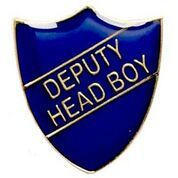 Blue Deputy Head Boy Shield Badge
