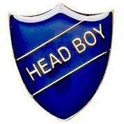Blue Head Boy Shield Badge