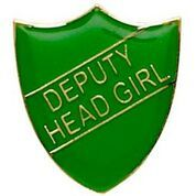 Green Deputy Head Girl Shield Badge