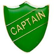 Green Shield Captain Badge