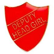 Red  Sheild Deputy Head Girl Badge