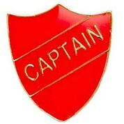 Red Shield Captain Badge
