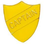 Yellow Shield Captain Badge