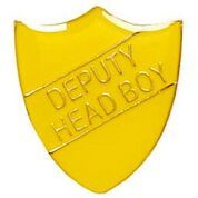 Yellow  Shield Deputy Head Boy Badge