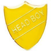 Yellow Shield Head Boy Badge