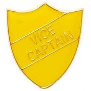 Yellow Shield Vice Captain Badge